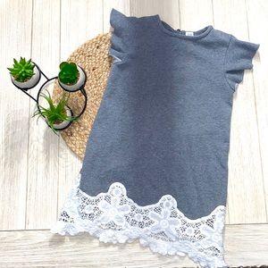 Gap kids gray & white  sweatshirt dress size 8